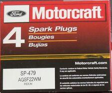 SET OF 4 MOTORCRAFT PLATINUM SPARK PLUGS SP479 AGSF22WM