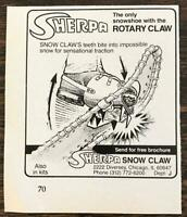 1980 Sherpa Snow Claw Chicago Print Ad The Only Snowshoe w the Rotary Claw