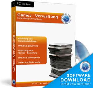 PC Games, Spielkonsole,Sammlung verwalten,Verwaltung