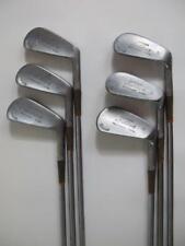 1940s Spalding Vintage Tournament Model Matching 6 Golf Clubs Irons Set 3-8 RARE