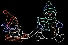 Snowman Brothers LED metal wire frame outdoor yard display decoration
