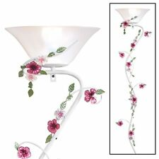 Pink Floral Wall Sconce Lamp with On/Off Switch, by Collections Etc