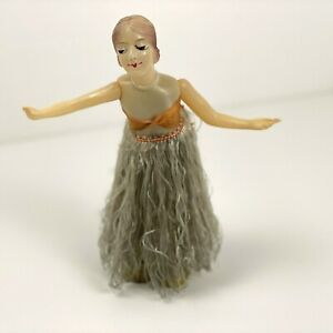 Vintage Celluloid Dancing Hula Girl Wind Up Toy made in Japan