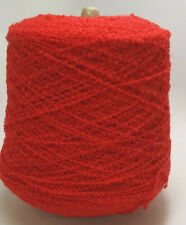 750g Cone Soft Bouncy 100% Wool Boucle Milled in Japan - Red