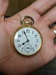 Vintage 1925 Elgin B.W. Raymond 16s 21J Grade 478 Model 15 Pocket Watch