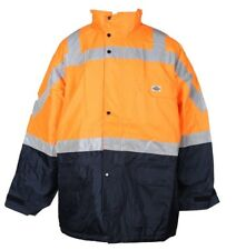 Hi Vis Orange 4XL Hooded Quilted Lining Flying Bomber Work Jacket New RRP $99.95