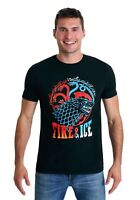 Game of Thrones: Fire & Ice Men's Black T-Shirt