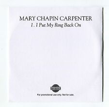 Mary Chapin Carpenter - I Put My Ring Back On - Scarce Promo Cd Single