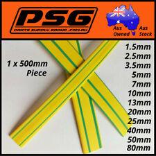 Heat Shrink Earth Green-Yellow tubing 1.5 2.5 3.5 5 7 10 13 16 20 25 40 50 80mm