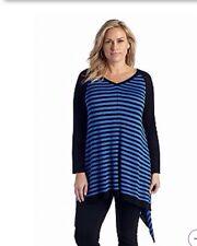 New Directions® Women Plus Size Clothes 1X Sharkbite Hem Tunic Top Shirt