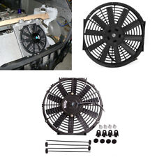 Car Van Truck Electric Plastic Cooling Fan Radiator Slim Fan with Mounting 12V