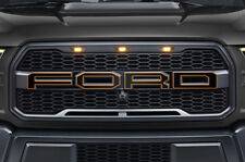 Ford F150 SVT Raptor Grille Insert Graphics Stickers Decals 2015-2018 ORNG OUTLN