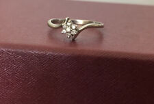 14K White Gold Ring With 7 Round Diamonds At .10 CT Total Weight(Shane Co.)