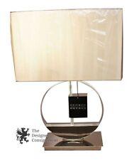 George Kovacs Contemporary Modern Chrome & Crystal Table Lamp + Shade W/ Tags
