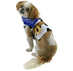 Cowboy Tee Pet Costume Cat Dog Cow Blue Bandana Size Small New!