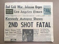 1963 November 18 Newspaper: Los Angeles LA Times: President JFK Kennedy, Autopsy