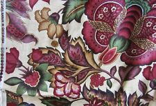Tela Waverly Cabina Rayas Verde Rosa Marrón Amarillo Algodón cañería tapicería