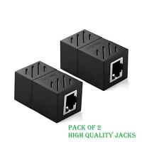 Ethernet Cable Extender Internet Cable Connector Female to Female Pack of 2