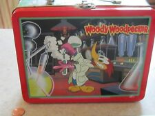 "Woody Woodpecker 1997 Small Collector Metal Lunch Box 5 1/2"" long x 4 3/4"" high"