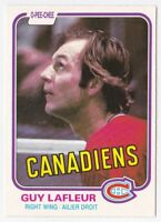 Guy Lafleur 1981/ '82 O-Pee-Chee #177 - Montreal Canadiens