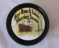 Bay Rum & Lime, Handmade Shaving Soap,Travel Size 2oz Black Travel Tin