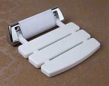 Folding Shower Seat   Wall Mounted in White   Bathroom Mobility Aid NEW