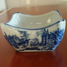 Victoria Ware Ironstone Bowl Dish with City Scene Flow Blue and White