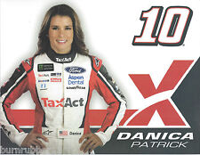 "2017 DANICA PATRICK ""TAX ACT"" #10 NASCAR MONSTER ENERGY CUP POSTCARD"
