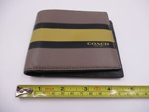 Coach Striped Leather Wallet (C602)