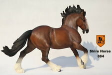 """Mr.Z 1/6 Scale Brown Resin Shire Horse Model Statue For 12""""  Figure Doll 004 Toy"""