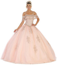 NEW OFF-SHOULDER MASQUERADE BALL GOWN QUINCEAÑERA DRESS FORMAL PROM DANCE PARTY