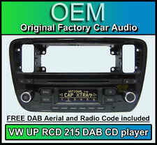 VW UP DAB car stereo, VW RCD 215 DAB digital radio CD MP3 player, radio code