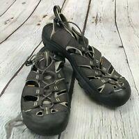 KEEN Newport H2 Green Gray Waterproof Size 12 Sport Sandals Hiking Men's