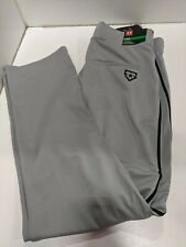 Men's Under Armour Ace Grey/Navy Piped Relaxed Fit Baseball Pants Sz Lg