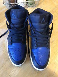 Nike Air Jordan 1 Mid Obsidian Game Royal Size 10.5 554724-412