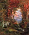 Thomas Moran Autumnal Woods Fine Art CANVAS Print Poster Decoration Small 8x10
