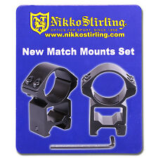 Nikko Rifle Scope MOUNTS 2 Piece 30mm Tube HIGH Weaver Picatinny RIS Rail Ring