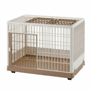"Richell Pet Training Kennel PK-830 White / Mocha 32.5"" x 21.7"" x 24.6"" (288)"