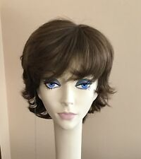 NWT! JACQUELYN Wig HUMAN HAIR Blend CAROL10-7 BROWN Monofilament Top
