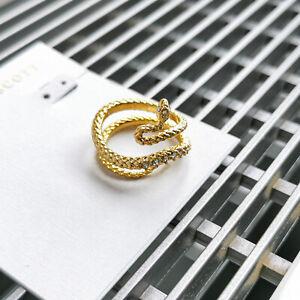 Kendra Scott Phoenix Wrap Ring Size 7 Vintage Gold