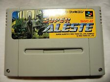 Toho SUPER ALESTE 1992 Nintendo SFC (SPACE MEGAFORCE) from Japan USED GOOD F/S