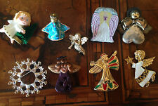 Rare! Vintage Lot Christmas Angel Pins Lotto Spille Angeli di Natale  (lot 9)