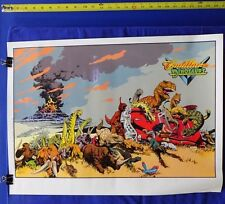 """Cadillacs and Dinosaurs 1993 Poster Mark Schultz 19"""" by 26"""" Kitchen Sink Press T"""