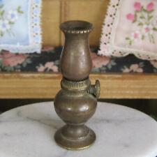 Vtg 50s Dollhouse MID CENTURY BRASS HURRICANE OIL LAMP Lantern Light Metal 1 Pc