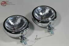 "Clear Lens Vintage Style Mounted Custom Fog Lamp Lights Truck Rod 12 Volt 5"" New"