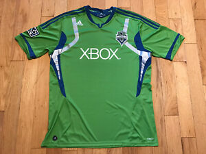 Seattle Sounders X Box Jersey 2XL Adidas Clima Cool MLS Soccer Jersey