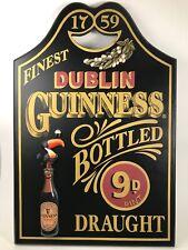 Guinness Wood Bar Sign Toucan Bird 1759 Finest Dublin Draught
