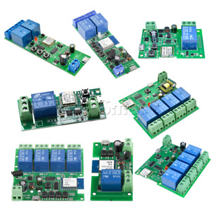 1/2/4 Channel Smart Switch WiFi Relay Module +433MHZ Home Remote Control App