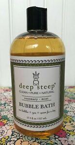 DEEP STEEP ROSEMARY MINT BUBBLE BATH 17.5 OZ