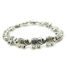 Exquisite Tibetan Silver Elephant Bracelet Jewelry Ladies Bangle